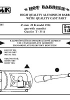 45 mm 20 K model 1934 gun with mantlet - Gun for T-35 A - CMK HB045