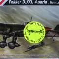 Fokker D. XXI 4. Sarja Pós-Guerra de Serviço - CMK SH72189