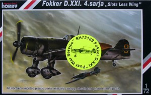 Fokker D. XXI 4. Sarja na de Oorlog Service - CMK SH72189