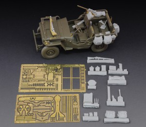 Jeep Willys Hars en metalen foto-geëtste kit - Koninklijk Model 605