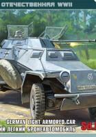 Sd.Kfz 222 θωρακισμένο αυτοκίνητο - Zvezda 6157