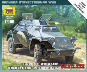 Sd.Kfz 222 coche blindado - Zvezda 6157