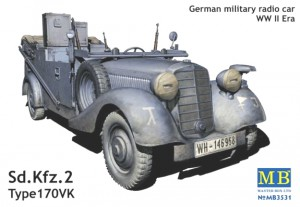Sd.Kfz. 2 Type 170VK - German military radio car - Master Box MB3531