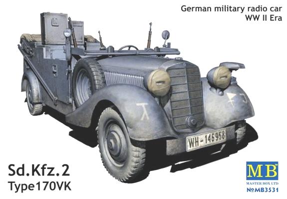 Sd.Kfz. 2 Tüüpi 170VK - saksa sõjaväe auto raadio - Master Box MB3531