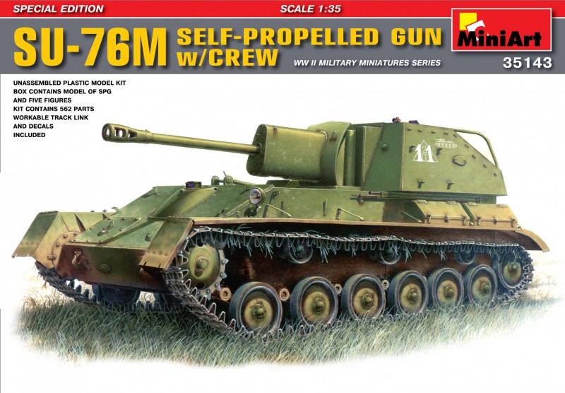 SU-76M Soviet Self-Propelled Gun w/Crew - MiniArt 35143