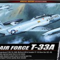 U. S. AIR FORCE T-33 plan - ACADEMY 12240