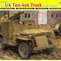 Bepansrade 1/4 Ton 4x4 Lastbil w/Bazooka - DML-6748