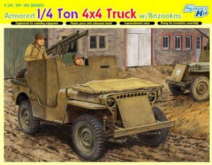 Gepantserde 1/4 Ton 4x4 Truck w/Bazooka - DML 6748
