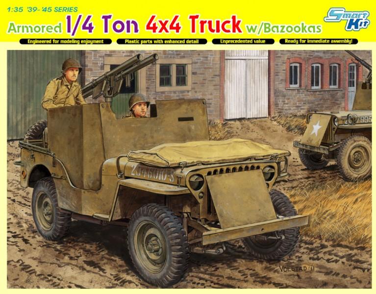 Броньований 4x4 вантажівка 1/4 тонни ж / Базука-DML 6748