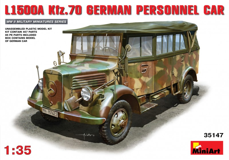 L1500A (Kfz.70) Personal Alemán De Coches - MiniArt 35147