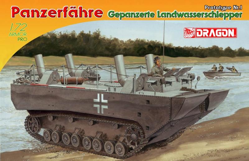 Tank kjøring pansrede landet vann traktor Prototype Nr. I - DML-7489