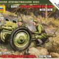 Szovjet 76 mm-es Pisztoly - Zvezda 6145