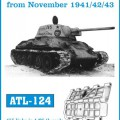 Trasos T-34/76 nuo lapkričio 1941/ 42/ 43 - Friulmodel ATL-124