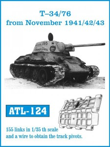 Tracks for T-34/76 from November 1941/ 42/ 43 - Friulmodel ATL-124