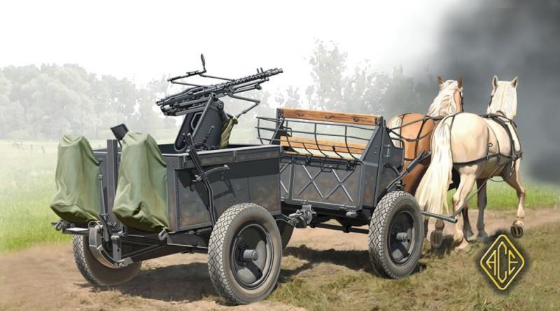 Chariot tiré par des chevaux (Type 36) avec Zwillingslafette 36 - Modèles Ace 72510