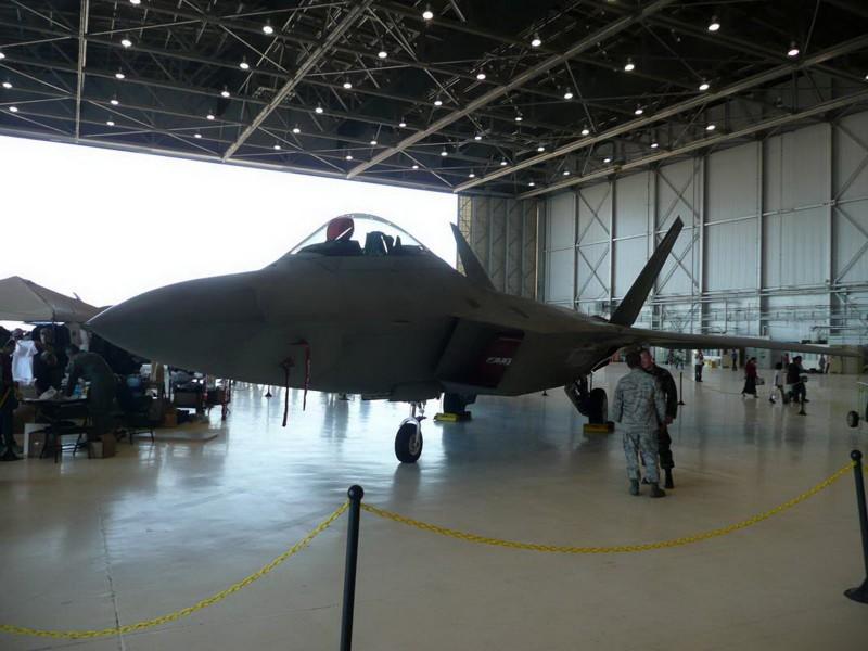A Lockheed F-22A Raptor