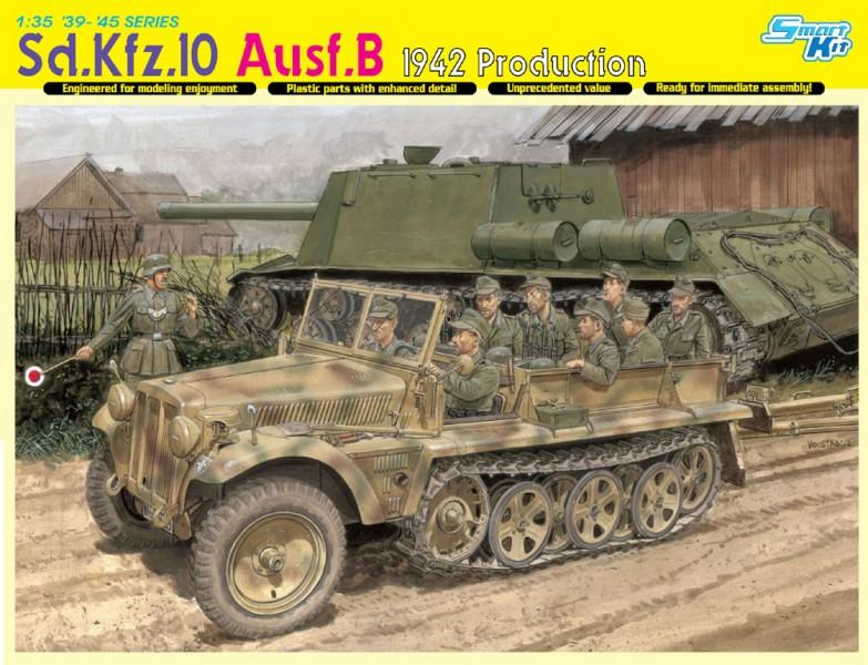 De Sd.Kfz.10 Ausf.B 1942 Productie - DML 6731
