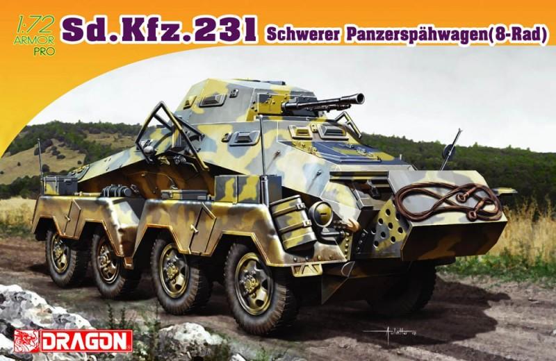 Sd.Kfz.231 dopo una lunga Panzerspahwagen (8-Rad) - DML 7483