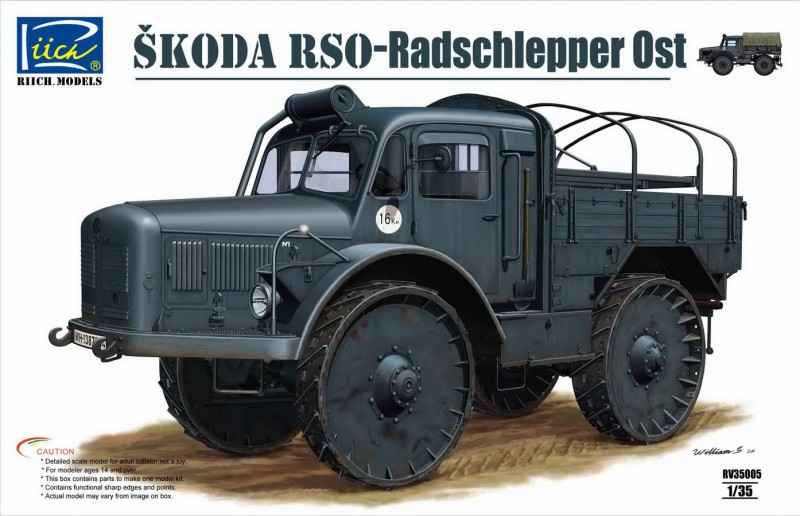 Ŝkoda RSO - Radschlepper Ost - Riich Models 35005
