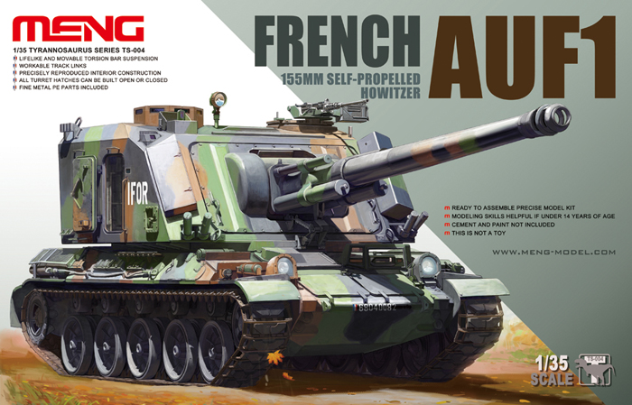 French AUF1 155mm Self-propelled Howitzer - Meng Model