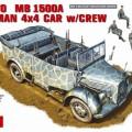 Kfz.70 MB 1500A tyske 4x4 Bil m/Mannskap - MiniArt 35139