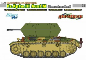 3.7 cm FlaK 43 sobre o chassi, Pz.Kpfw.III Ausf.M (Projeto Experimental) - Cyber-Hobby-6771