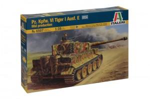 Pz.Kpfw.VI Tiger I Ausf.E vidurio gamybos - ITALERI 6507