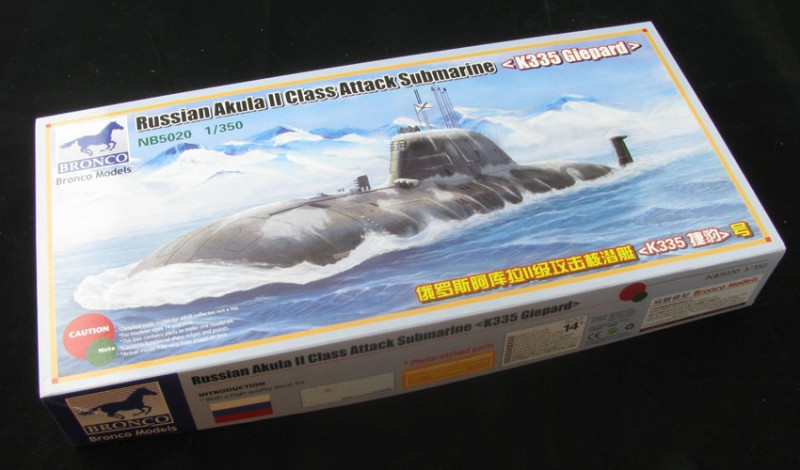 Russische Akula II Klasse gevechtsonderzeeërs, met k325 Giepard - Bronco NB5020