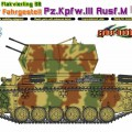 2cm flak four of a kind 38 op het chassis Pz.Kpfw.III Ausf.M - Cyber Hobby 6778