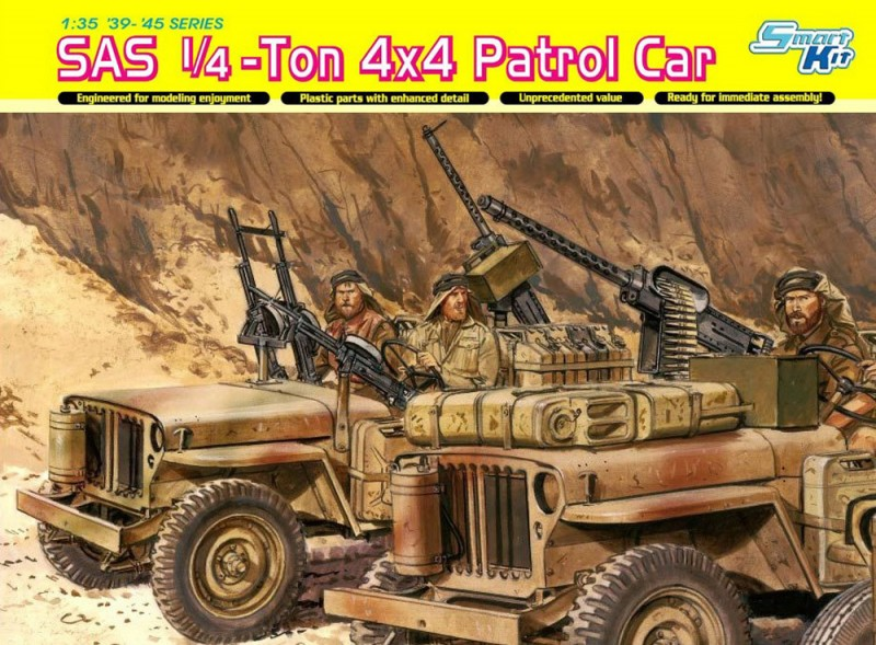 SAS 1/4-Ton 4x4 Patrol Car - DML-6745