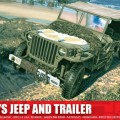 Willys Jeep in Prikolica - Airfix A01322