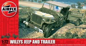 Willys Jeep og Trailer - Airfix A01322