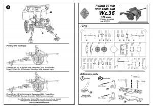 37mm polsk PÅ Gun wz.36 - Ess-Modeller 72533