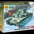 Sovietų sunkusis tankas T-35 - Zvezda 6203