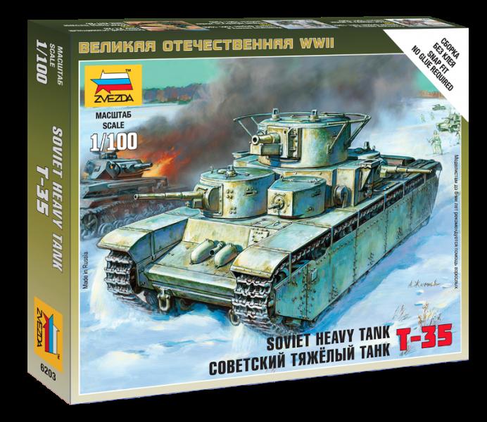 Sovjetski težki tank T-35 - Zvezda 6203