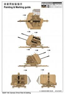 Alemão de 37mm Flak 43 Zwilling - Trompetista 02347
