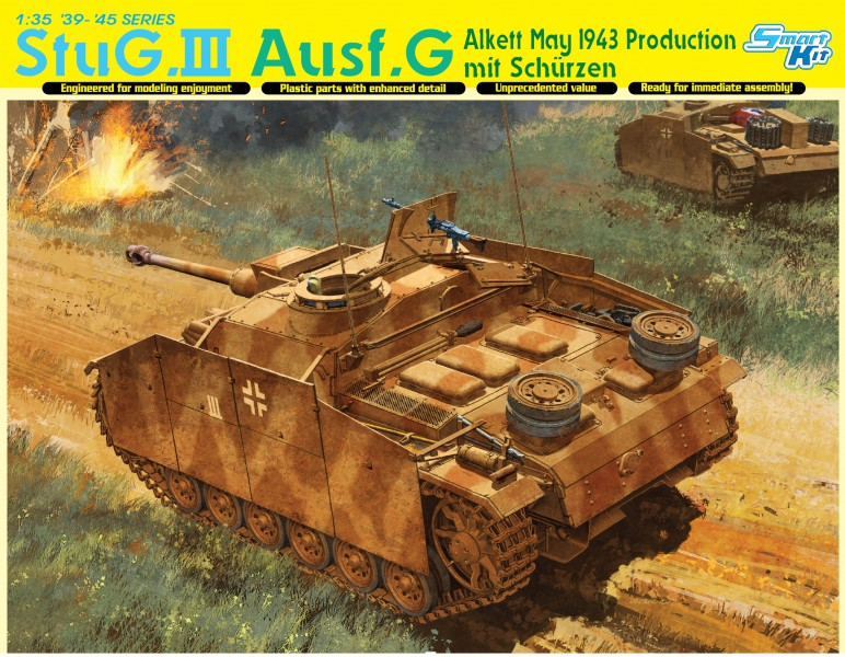 StuG.III Ausf.G 할 수 있는 1943 년 생산 mit Schurzen-DML6578