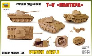 Pz.Kpfv.V Panther (Ausf.D) - Zvezda 3678