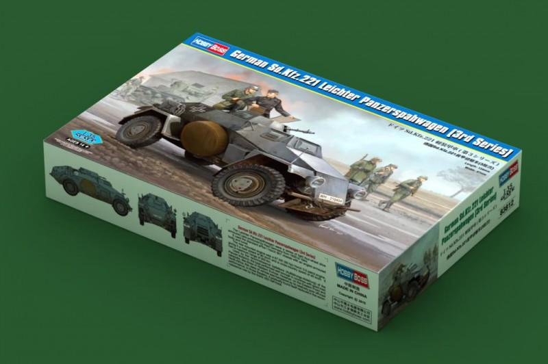 Německý Sd.Kfz.221 Leichter Panzerspahwagen - HOBBY BOSS 83812
