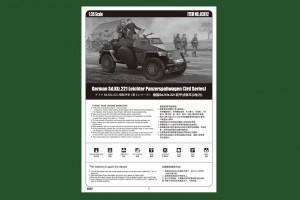 Vokiečių Sd.Automobilis.221 Leichter panzerspahwagen - HOBBY BOSS 83812