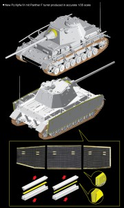 Pz.Kpfw.IV Párduc F Torony DML 6824