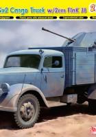 Tyska 3t 4x2 Lastbilens FlaK 38