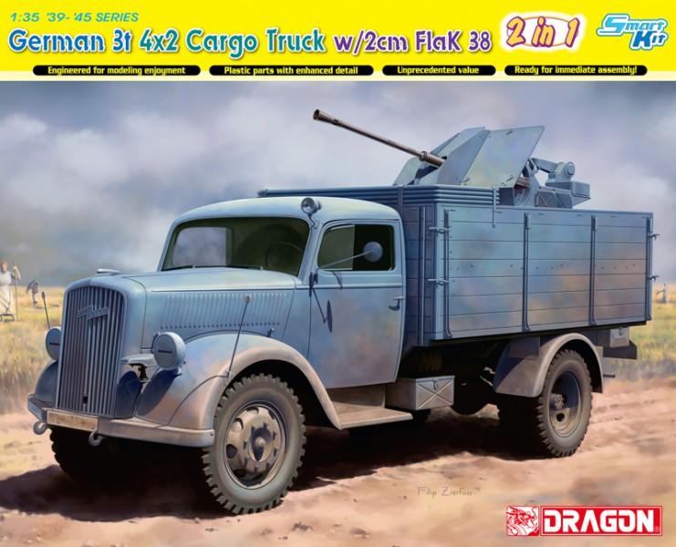 Alemán 3t 4x2 Camión FlaK 38