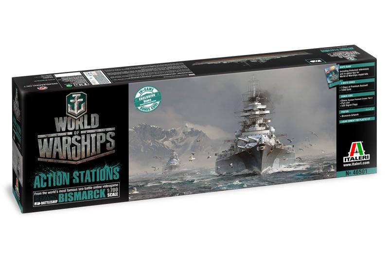 World of Warships - German Battleship Bismarck - ITALERI 46501