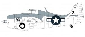 Грумман jak f4f-4 Уайлдкэт zestaw startowy - A55214 batalionie