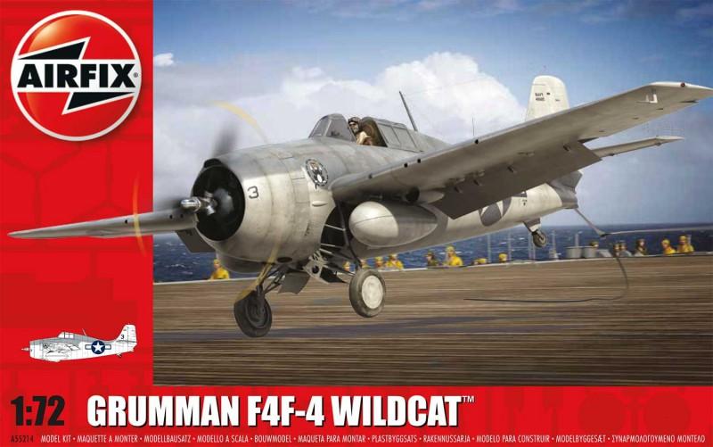 Grumman F4F-4 Vadmacska Szett - Airfix A55214