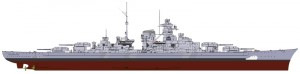 World of Warships - tyska Slagskeppet Bismarck - ITALERI 46501