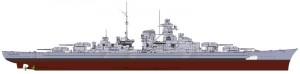 Maailma Sõjalaevade - saksa Soomuslaev Bismarcki - ITALERI 46501
