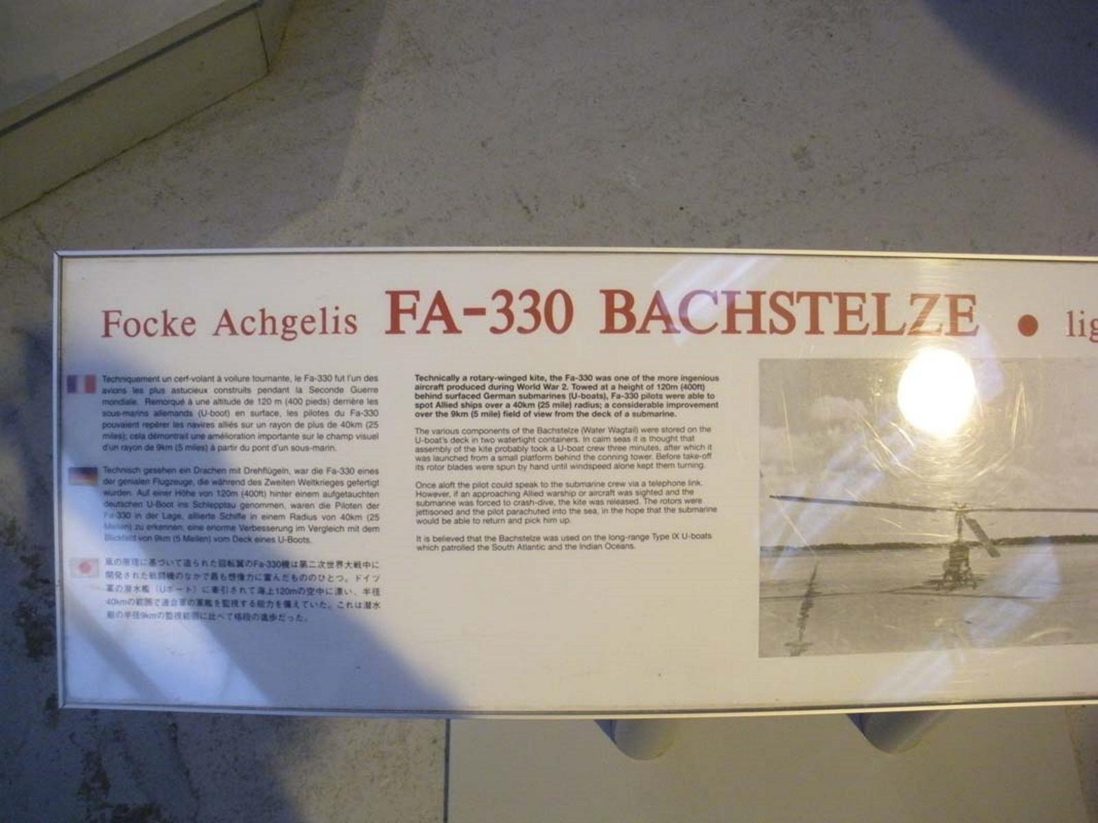 Фокке-Achgelis 330 Bachstelze ФА