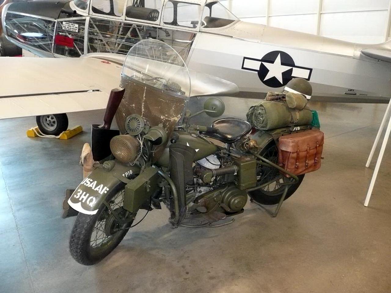哈雷戴维森的增.45摩托车